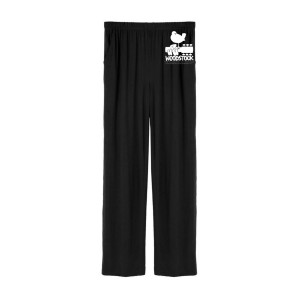 Woodstock Guitar & Dove Logo Pajama Pants