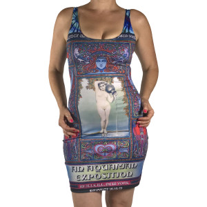 69' Aquarian Fitted Dress