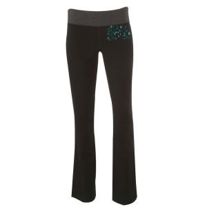 Green Logo Back To The Garden Yoga Pants