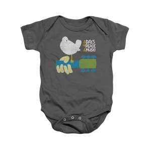 Woodstock Charcoal Grey Infant Snapsuit