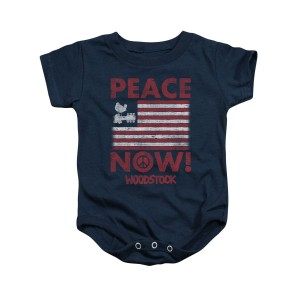 Woodstock Peace Now Navy Infant Snapsuit