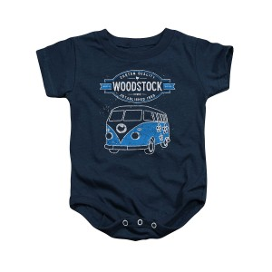Woodstock Van Logo Navy Infant Snapsuit