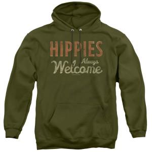 Woodstock Hippies Welcome Logo