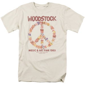 Woodstock Floral Peace Logo