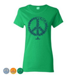 Women's Floral Peace T-Shirt