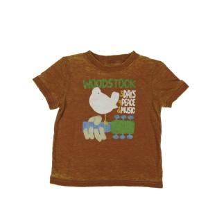 Toddlers Burnt Orange Dove & Guitar T-Shirt