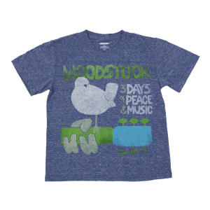 Woodstock 3 Days of Peace and Music Blue Kids T-shirt