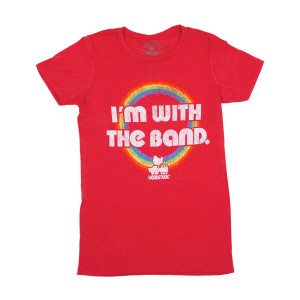 Woodstock I'm With The Band Juniors Red T-Shirt