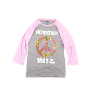 Woodstock Girls Peace Sign Raglan