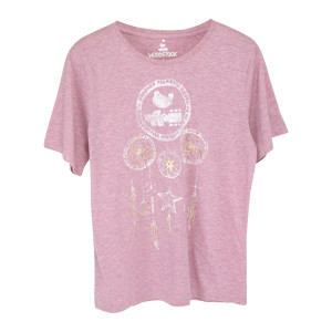 Woodstock Dreamcatcher Design Heather Pink T-Shirt