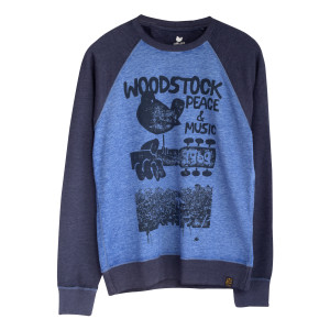 Woodstock 3 Days of Peace and Music Blue Raglan