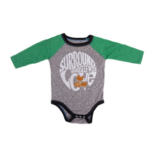 Woodstock - Infant Surround Yourself With Love Grey Long Sleeve Raglan T-Shirt