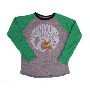 Woodstock Kids Surround Yourself With Love Raglan T-shirt