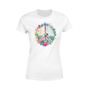 Floral Peace Sign Shirt