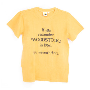 "Woodstock ""If You Remember Woodstock in 1969… Your Weren't There"" Gold T-Shirt"