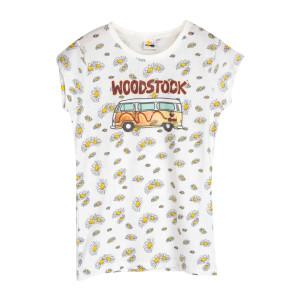 Woodstock Van and Daisies Ladies White T-Shirt