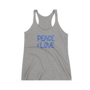 Peace & Love Heather Racer Tank