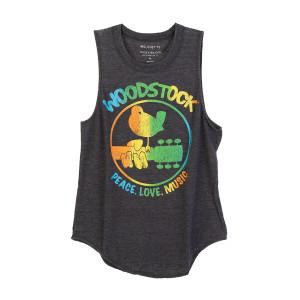 Peace, Love, Music Rainbow Logo Tank T-shirt