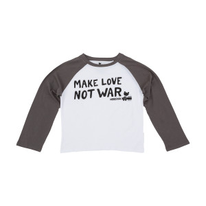 Woodstock Make Love Not War Juniors Raglan T-shirt