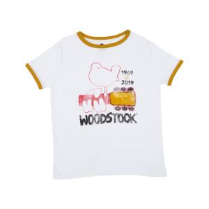 Woodstock Dove and Guitar Juniors T-shirt