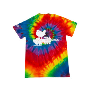 Woodstock Dove on Guitar Logo Tie Dye T-shirt