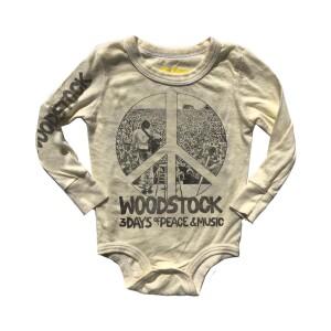 Woodstock Peace Sign Unisex Longsleeve Onesie