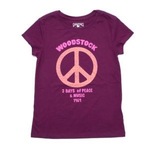 Girls Floral Peace T-Shirt