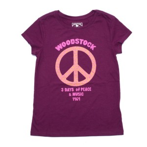 Girls Floral Peace T-Shirt