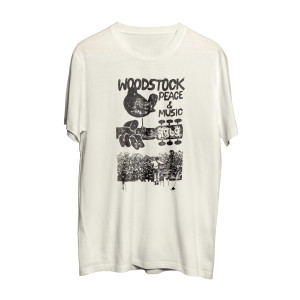 Woodstock Peace & Music Logo Yellow T-Shirt
