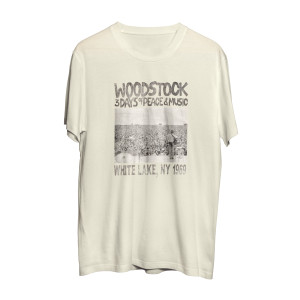 Woodstock 3 Days of Peace and Music White Photo Longsleeve T-Shirt