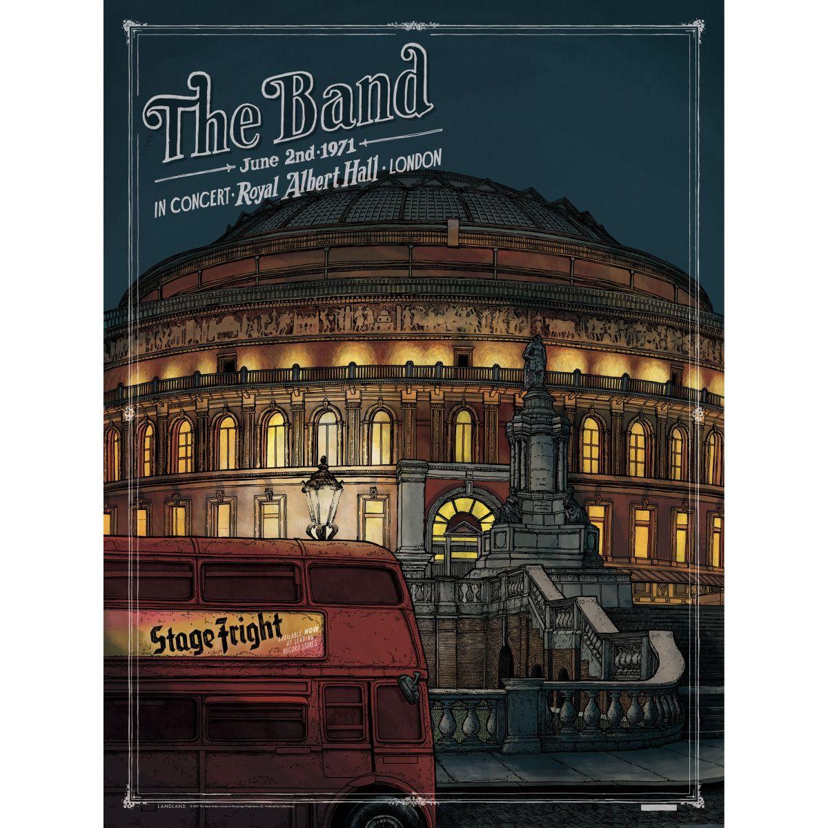 The Band Royal Albert Hall 50th Anniversary Screenprint