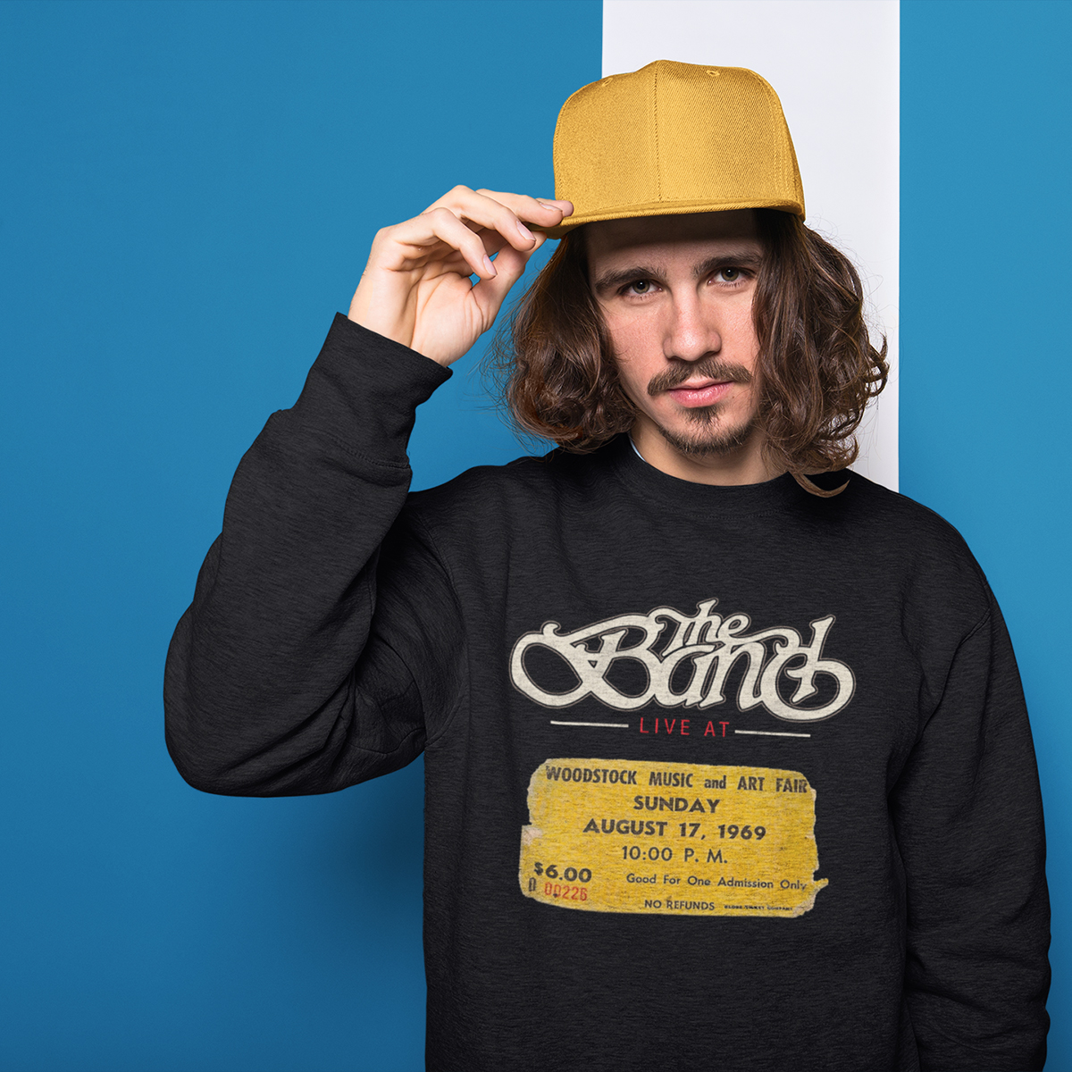 The Band Live at Woodstock Crewneck Sweatshirt
