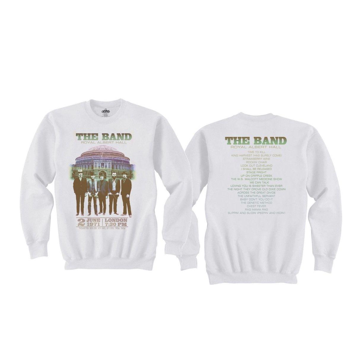 The Band Live at Royal Albert Hall 1971 White Crewneck Sweatshirt