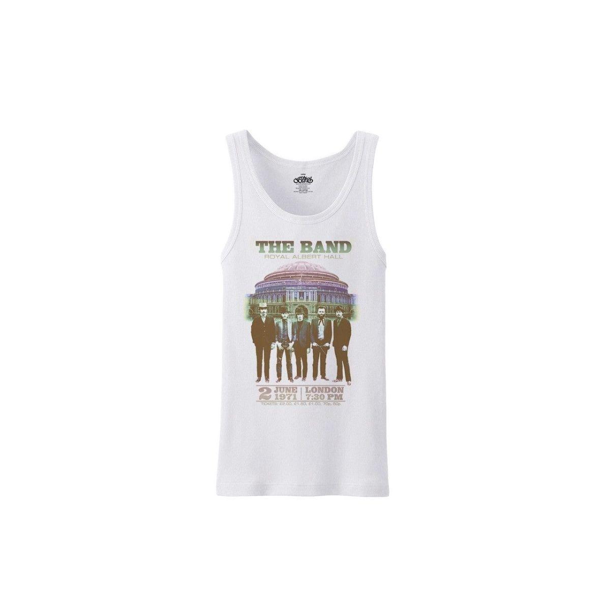 The Band Live at Royal Albert Hall 1971 White Front Print Tank Top
