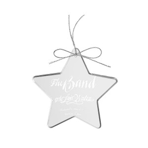 The Last Waltz Star Laser-Etched Glass Ornament