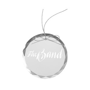 The Last Waltz Logo Round Laser-Etched Glass Ornament