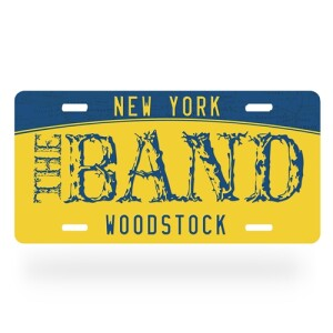 The Band Woodstock License Plate