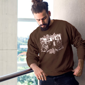 The Band 50 Illustrated Crewneck Sweatshirt (Brown)