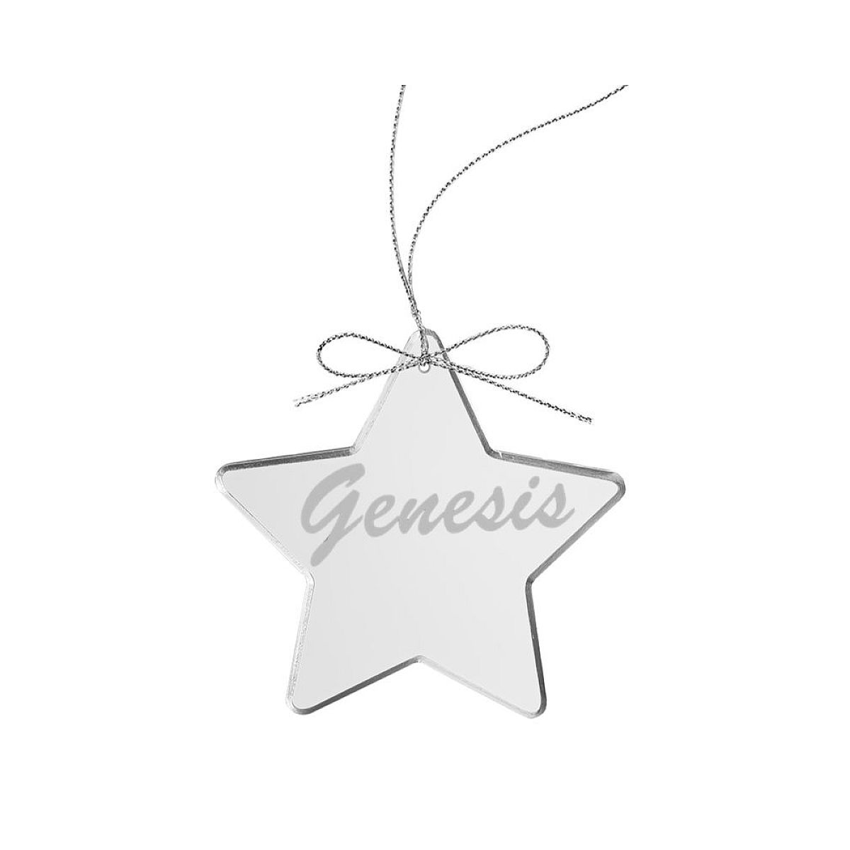 Circa 80s Logo Star Laser-Etched Glass Ornament