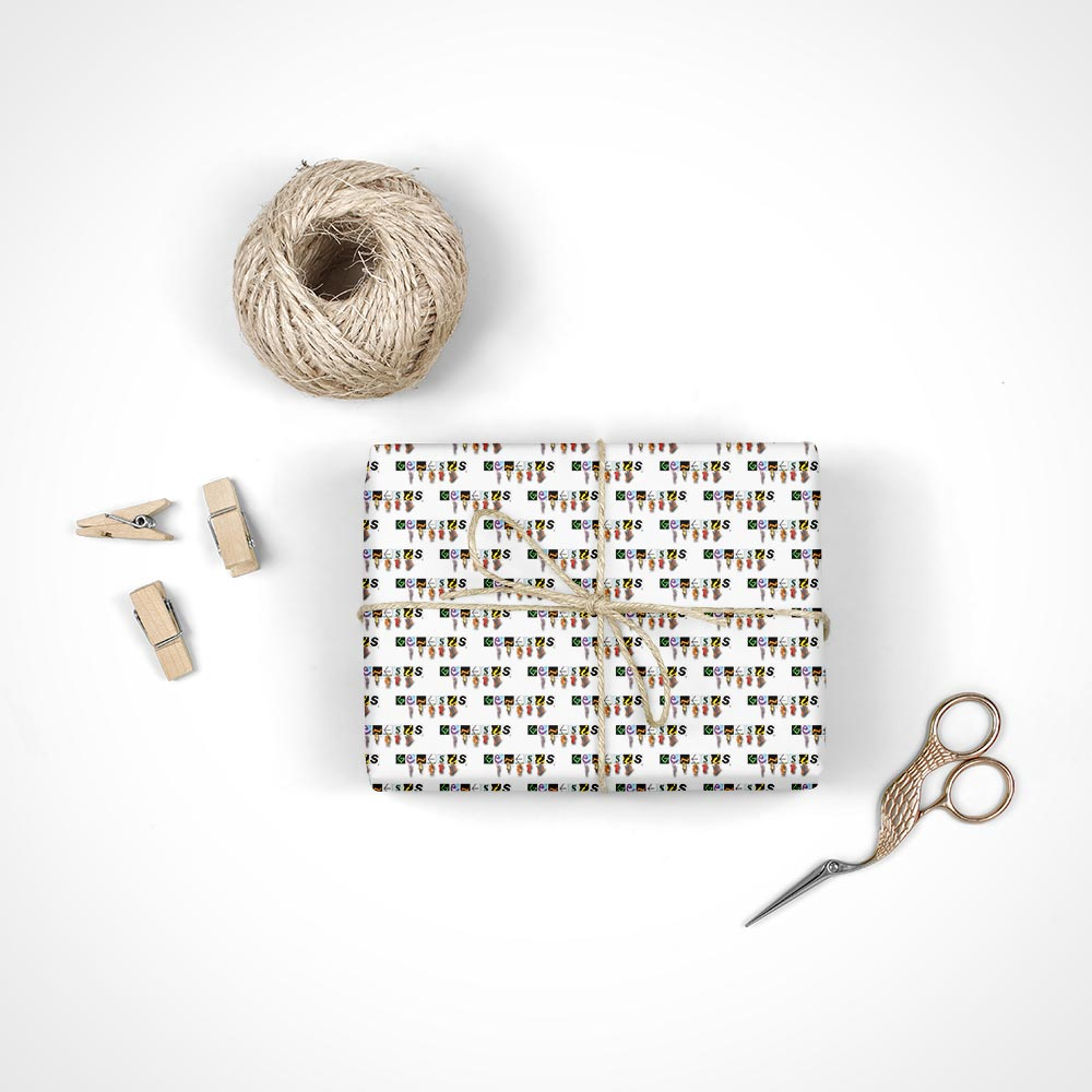 Genesis Turn it on Again New Logo Wrapping Paper