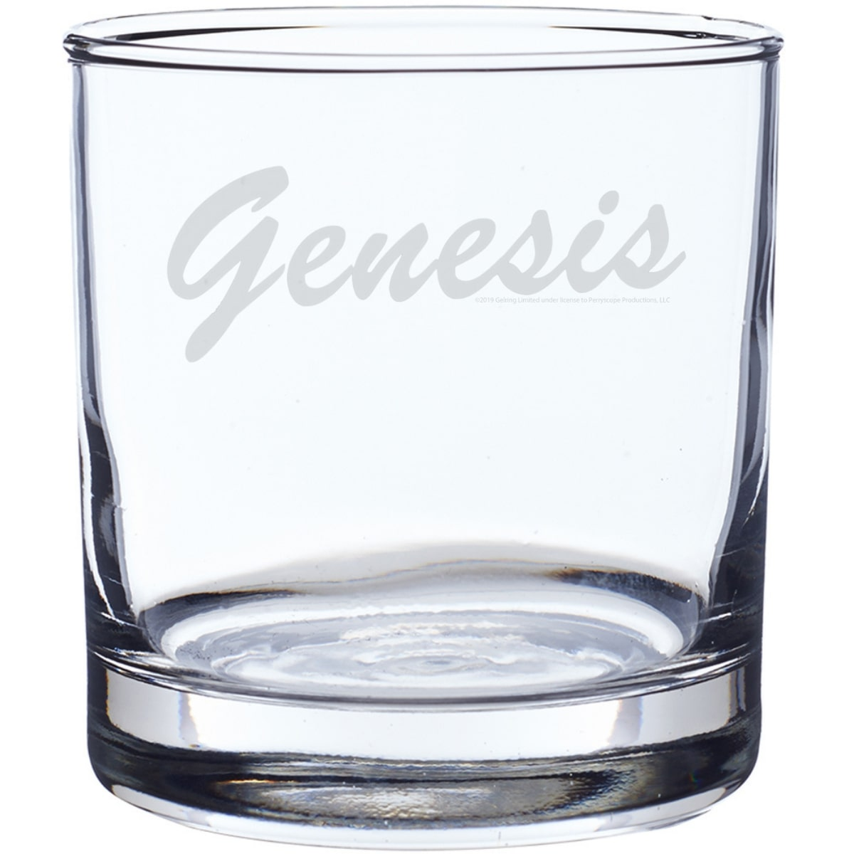 80's Laser-Etched Whiskey Glass