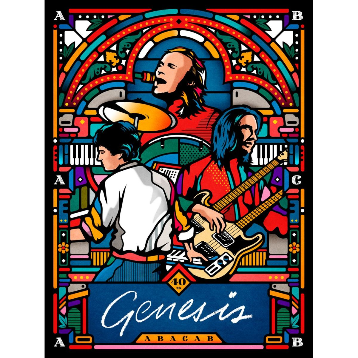 Genesis X Collectionzz Abacab 40th Anniversary Screenprint