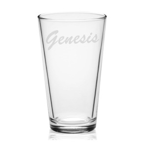 Early 80's Logo Etched Pint Glass