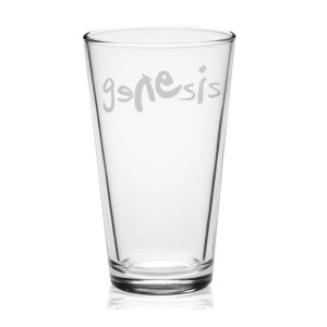 Modern Logo Etched Pint Glass