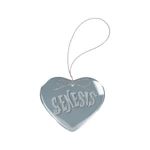 Circa 70s Logo Heart Laser-Etched Glass Ornament