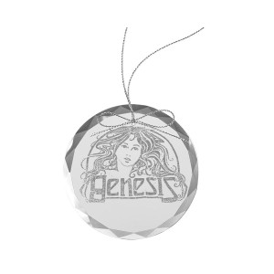 Goddess Round Laser-Etched Glass Ornament