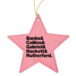 Names Leather Ornament