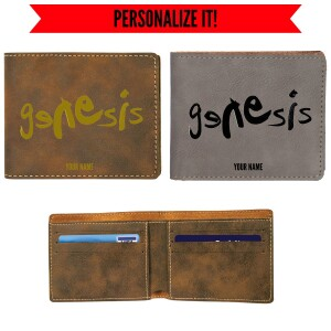 Modern Logo Vegan Leather Wallet