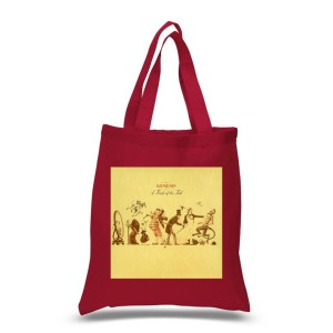 A Trick OF The Tail Red Tote Bag