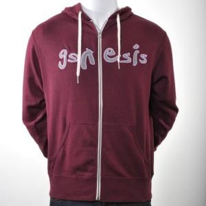 Burgundy Genesis Later Logo Hoodie